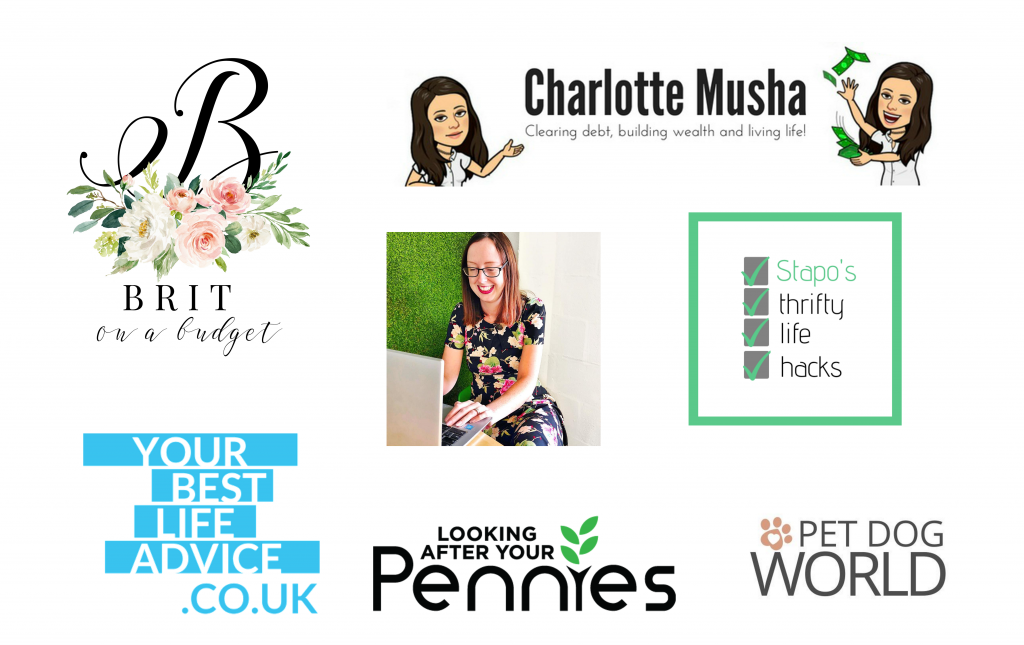 list of bloggers involved in competition to win a shopping voucher
